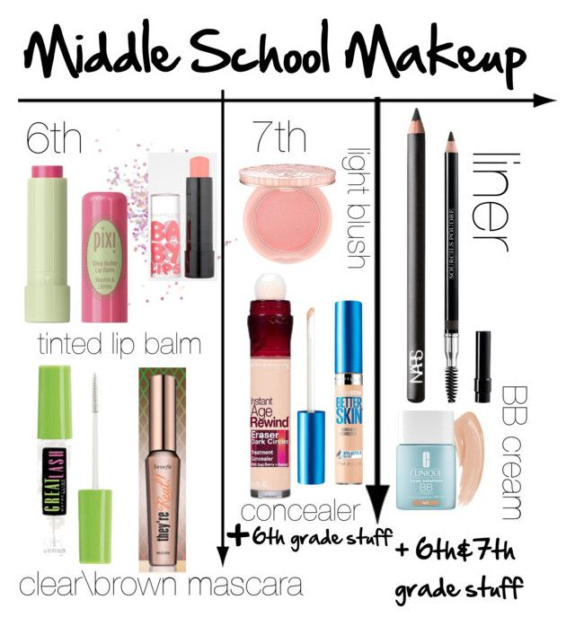 """middle school makeup"" by tamakesmyday ❤ liked on Polyvore featuring beauty, Topshop, Pixi, Maybelline, Benefit, NARS Cosmetics, Paul & Joe, Christian Dior and Clinique"