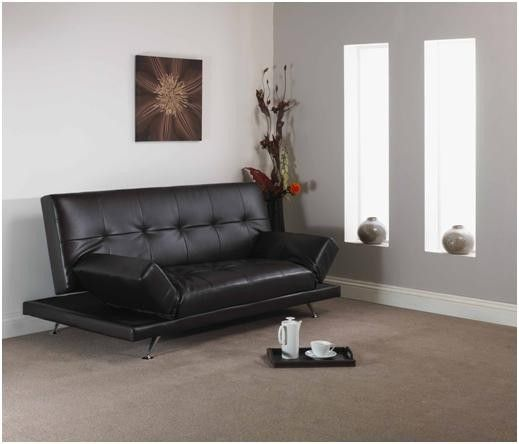 A New Sofa Bed Available In Faux Leather And A Choice Of Black Or