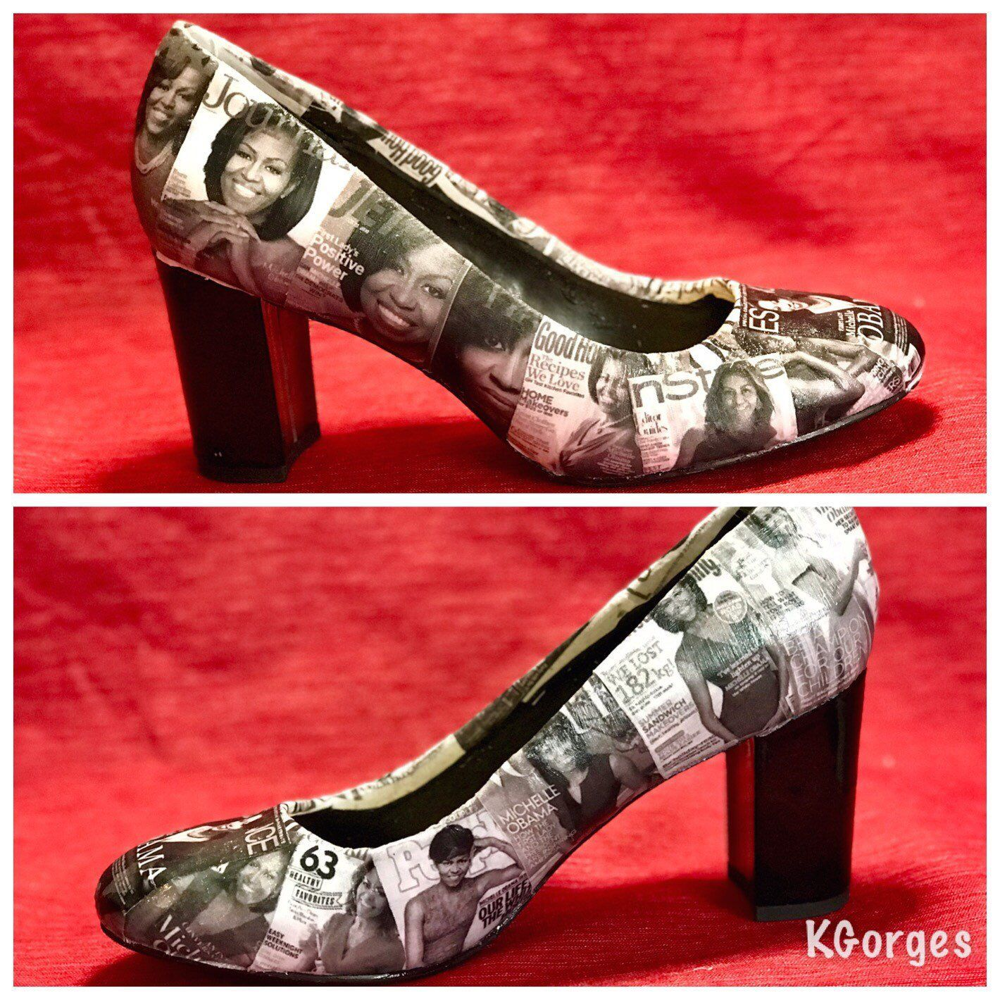 Michelle Obama Pumps Michelle Obama Collage Shoes Custom