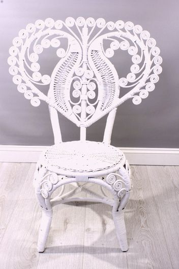 Peacock White Rattan Ornate Chair Www Curlycane Co Uk Decoracion