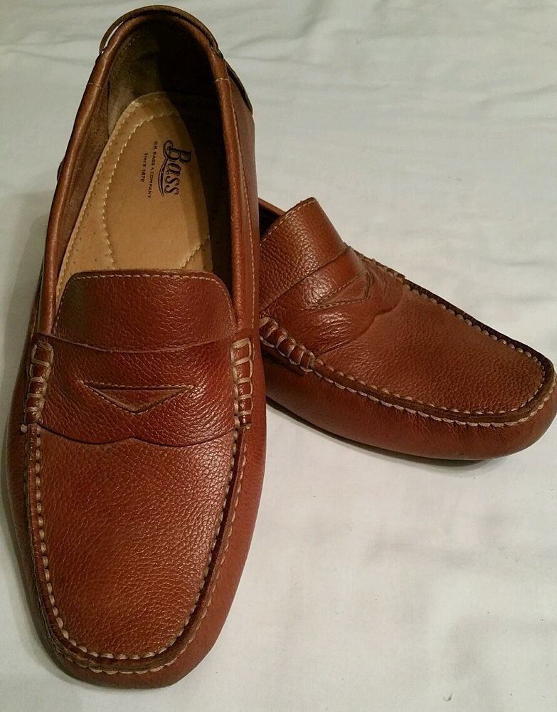 567b7572b9f GH Bass Monte Men s Brown Leather Driving Loafers Mocs Slip On Shoes Sz  11.5 M  Bass  LoafersSlipOns