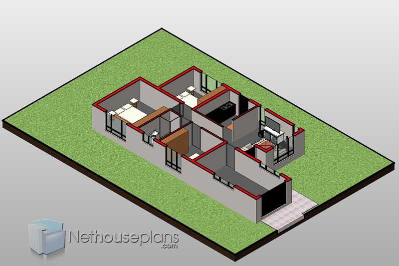 Building Plans South Africa 3 Bedroom House Floor Plan Nethouseplansnethouseplans In 2020 House Plans South Africa Bedroom House Plans Four Bedroom House Plans