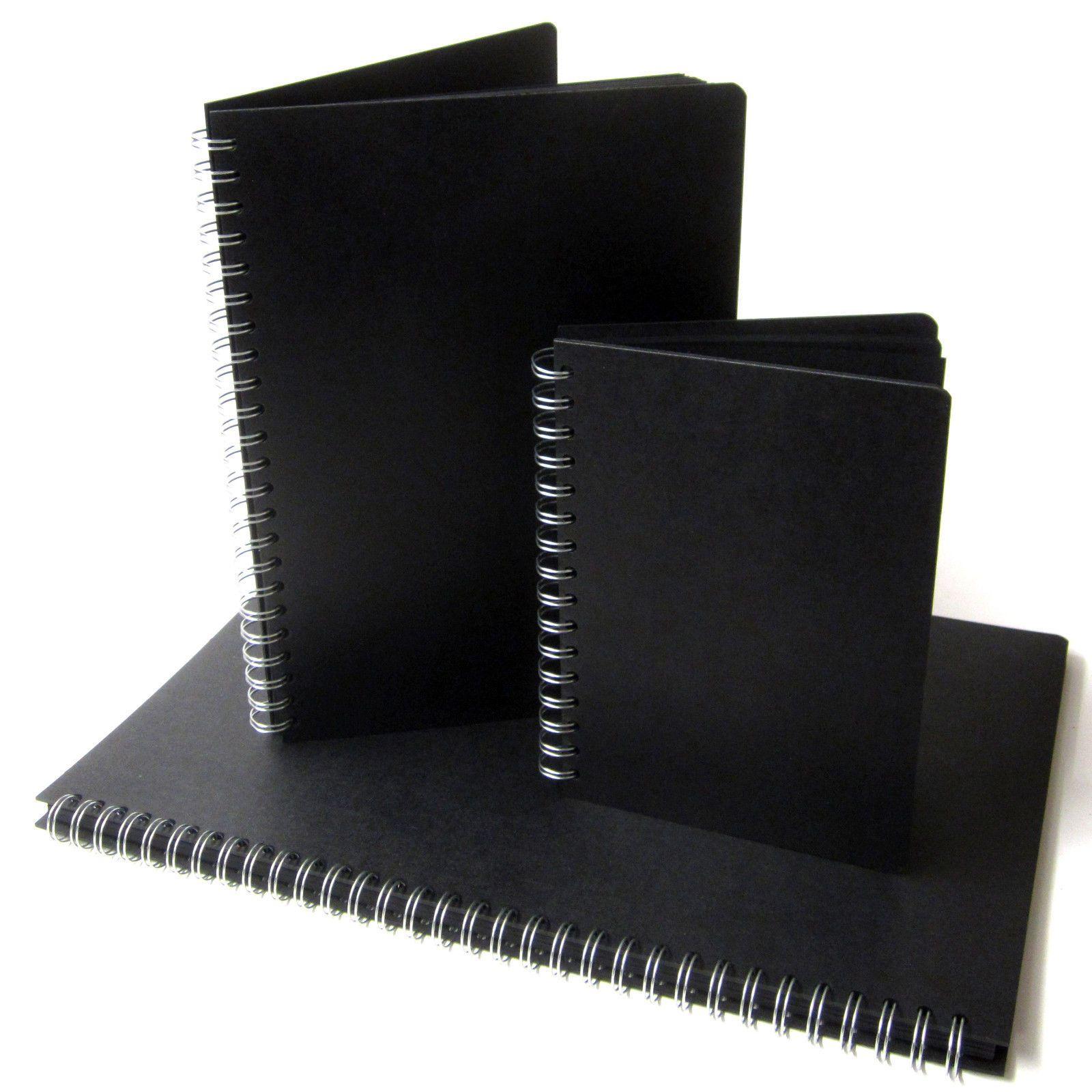 Black Pages Scrapbook A3a4a5 Portrait Photo Album Display