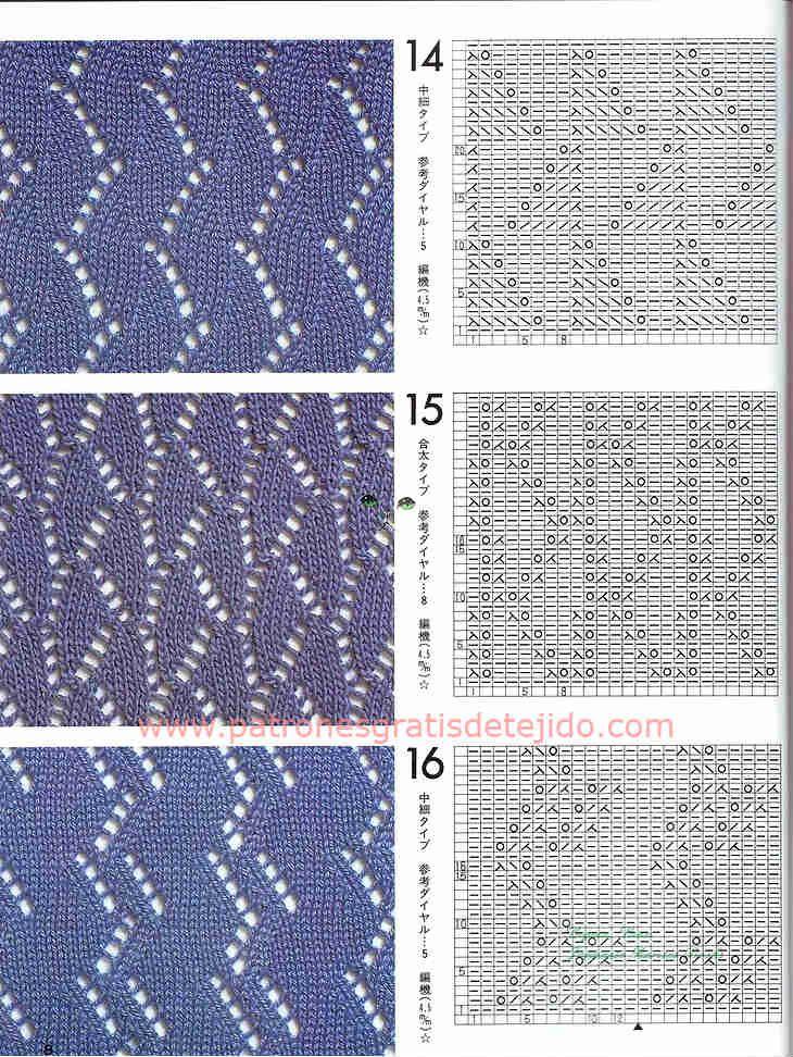 Cuarenta patrones de puntadas de tejido a dos agujas | PUNTO DOS ...