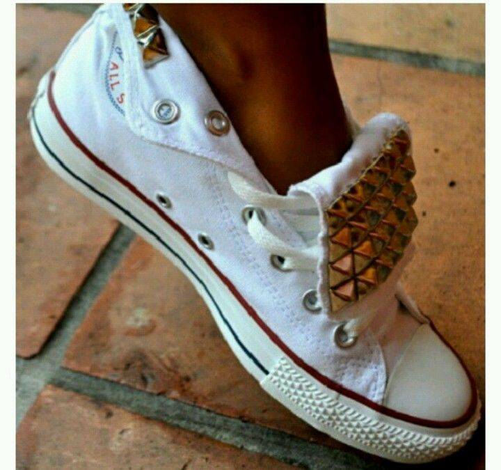 3 Converse With Studs (With images)   Studded converse, Me