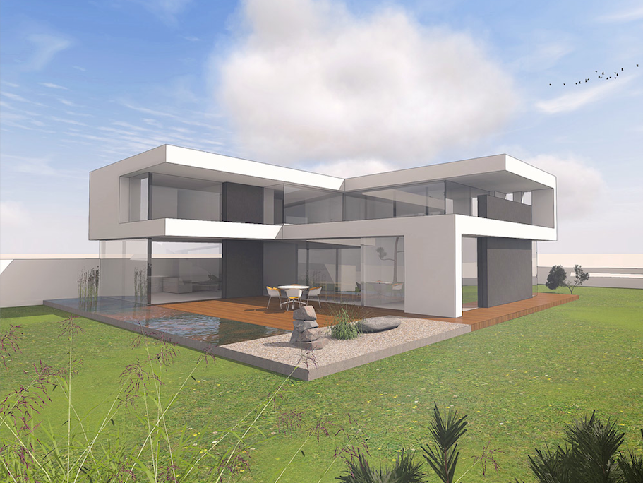 modernes haus im bauhausstil massivhaus wohnhaus house elevation modern contemporary and