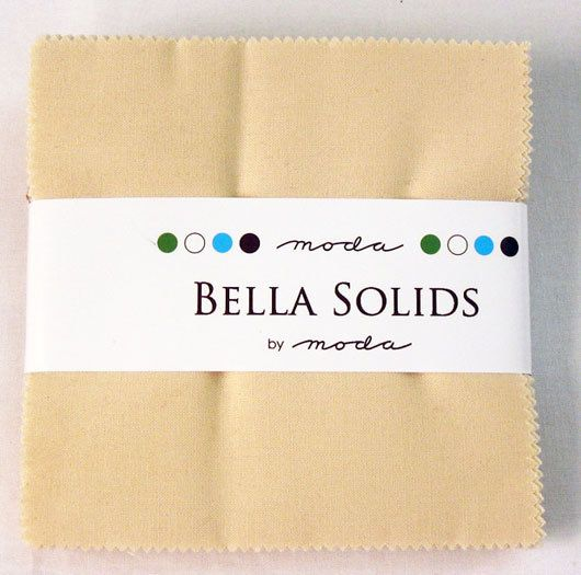 Moda Charm Pack BELLA SOLIDS NATURAL 5 Quilt by donellefritz, $7.43