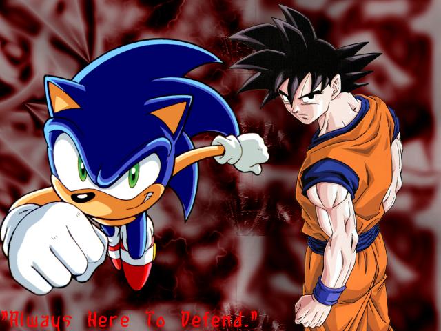 Sonic And Goku Wallpaper 2 By Cro Rumery On Deviantart Son Goku Dbz