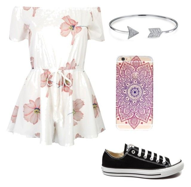 """""""Girls night out"""" by maddy-jennings ❤ liked on Polyvore featuring Bling Jewelry and Converse"""
