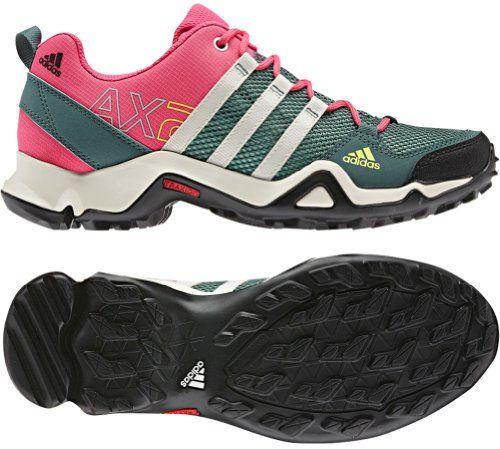 adidas Outdoor AX 2 Hiking Shoe \u2013 Women\u0027s Vista Green/Chalk/Bahia Pink http