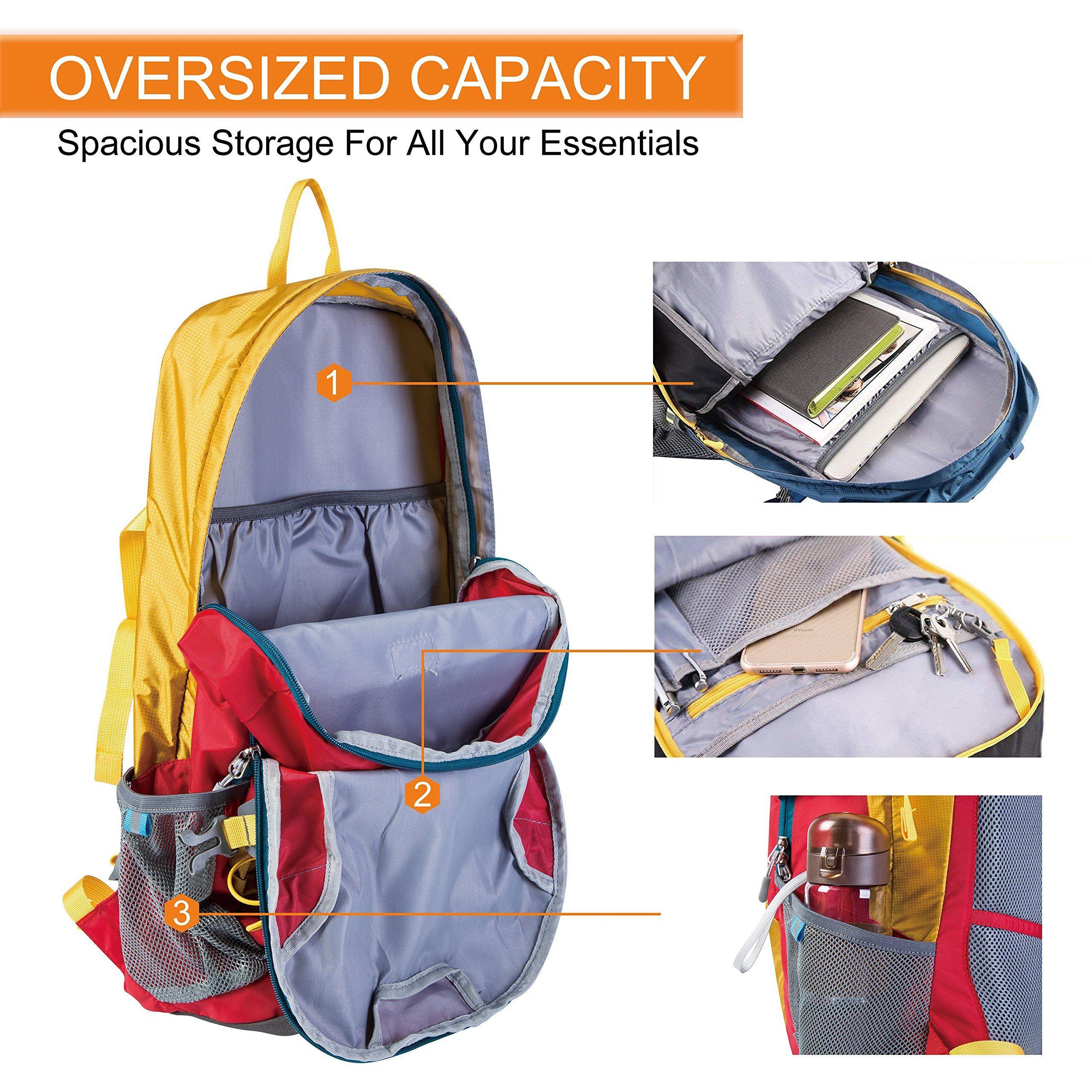 661fe10481b2 Lucien Hanna Hiking Backpack 30L Lightweight Waterproof Backpacks ...