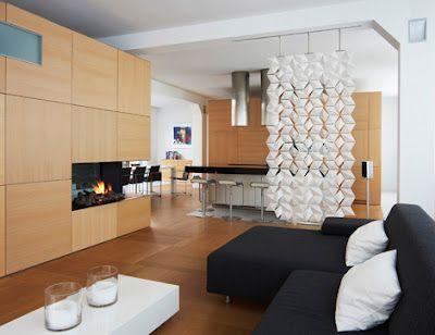 Separadores de espacios y ambientes: división de sala y comedor ...