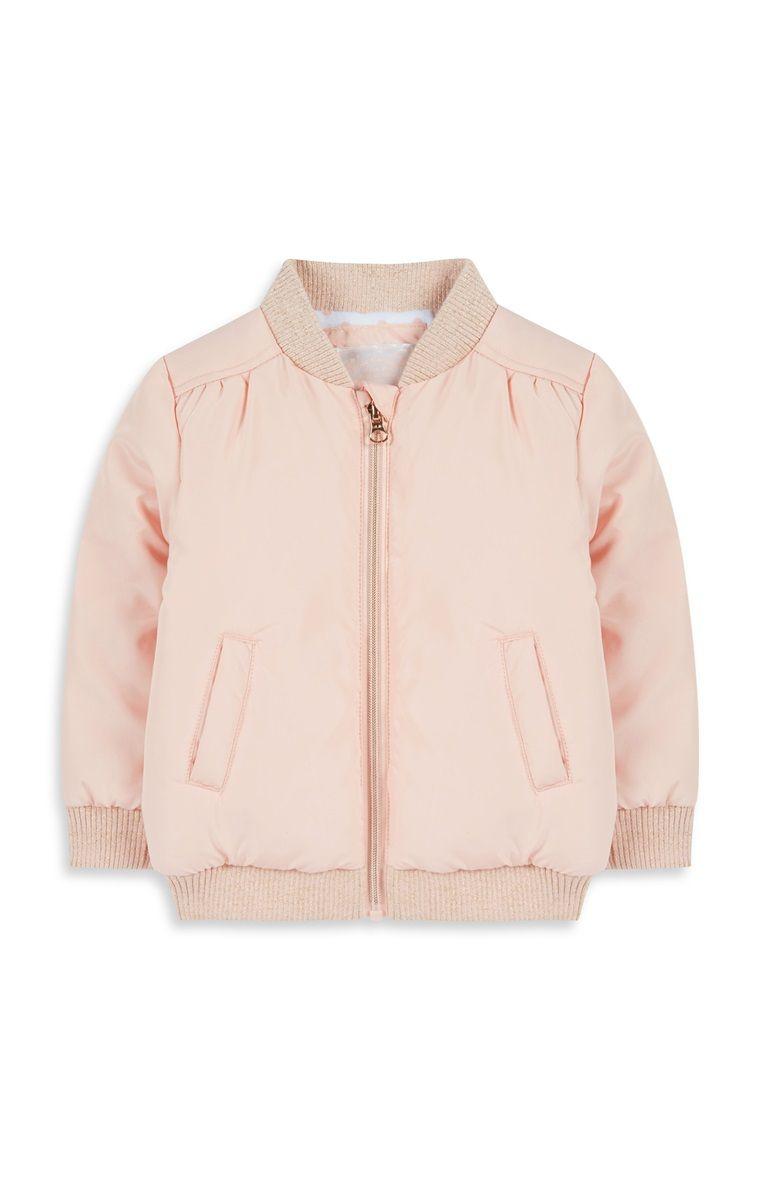 Primark - Baby Girl Pale Pink Bomber Jacket | Kids Fasion ...
