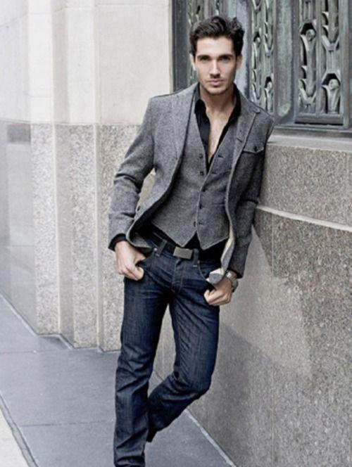 Street Style. Gray jacket blazer. Smart casual. Summer. | Street ...
