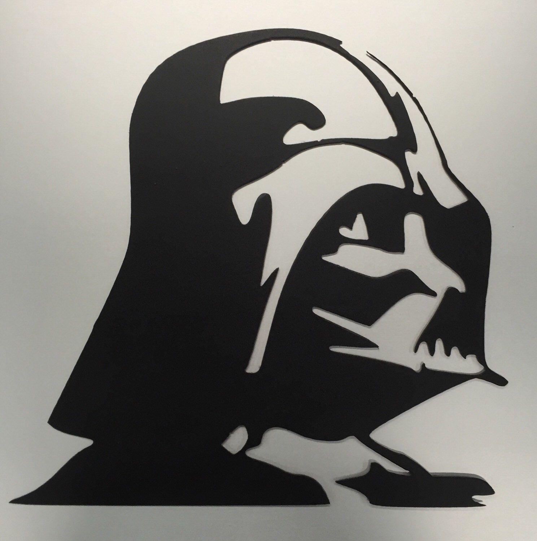 Star Wars Metal Wall Art Darth Vader Decor Sign Symbol Kids Home Theater Baby Nursery Gifts For Guys Husband Men Man Cave Boyfriend Star Wars Stencil Star Wars Art Star Wars