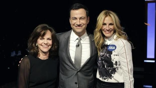 """Julia Roberts and Sally Field compete in """"curse-off"""" on """"Jimmy Kimmel Live"""" - CBS News"""