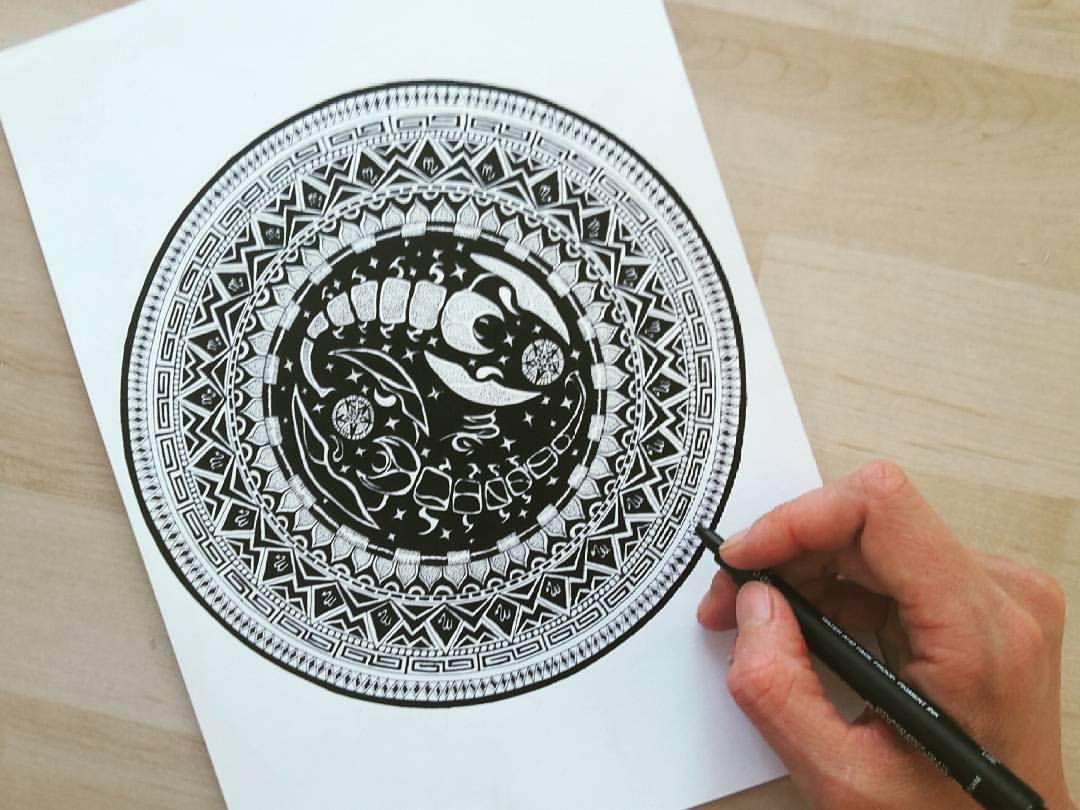 Scorpio Mandala Oksana Stepanova Scorpio Tattoo Mandala Tattoos