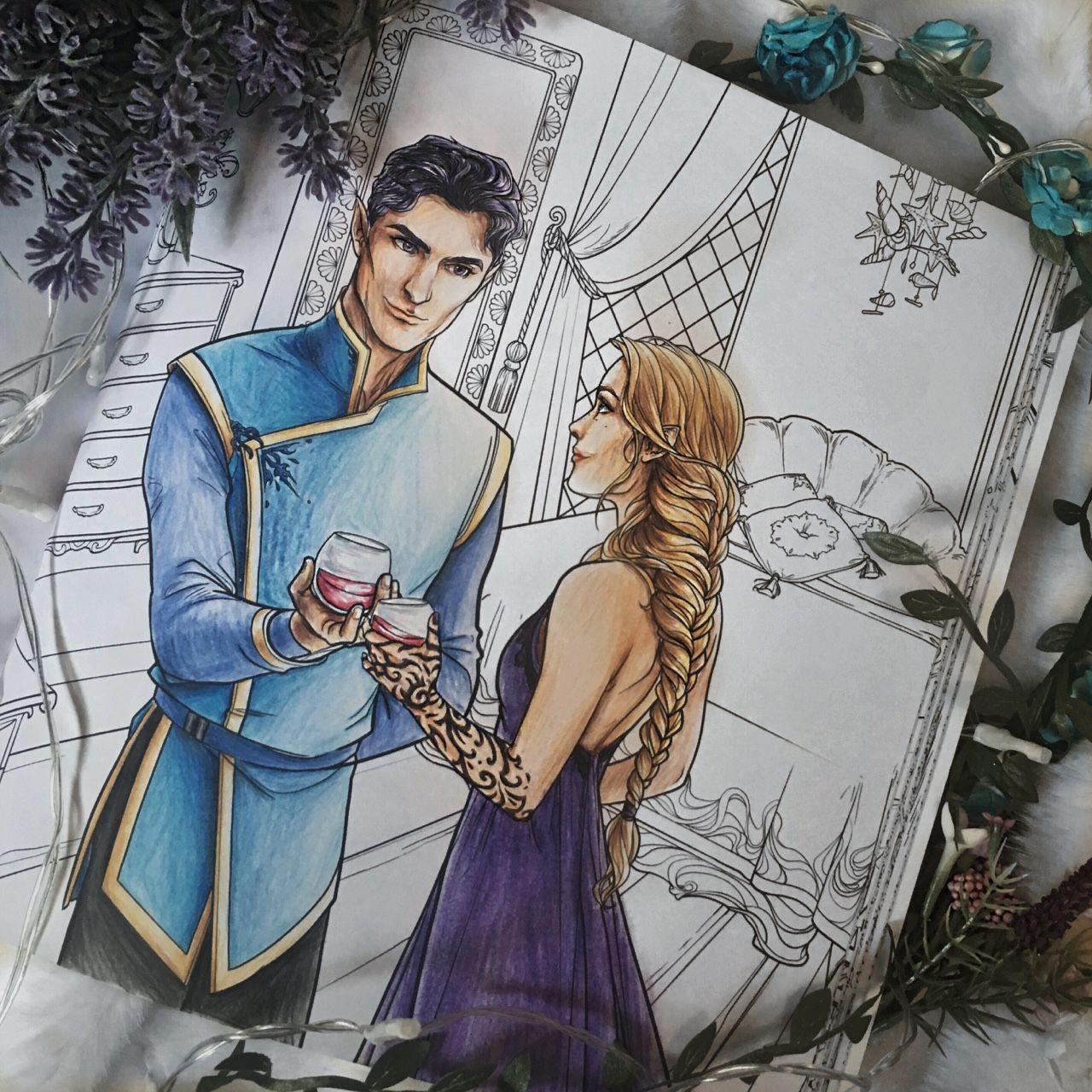 My Colouring Of Rhys And Feyre With Images Coloring