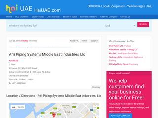Afri Piping Systems Middle East Industries, Llc Afripipes, 597-896