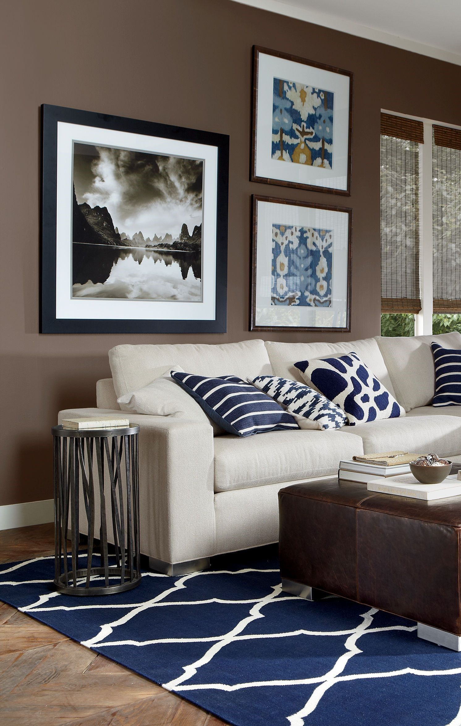 21 Most Elegant Blue And Brown Living Room Ideas You Ll Love Brown living room decor