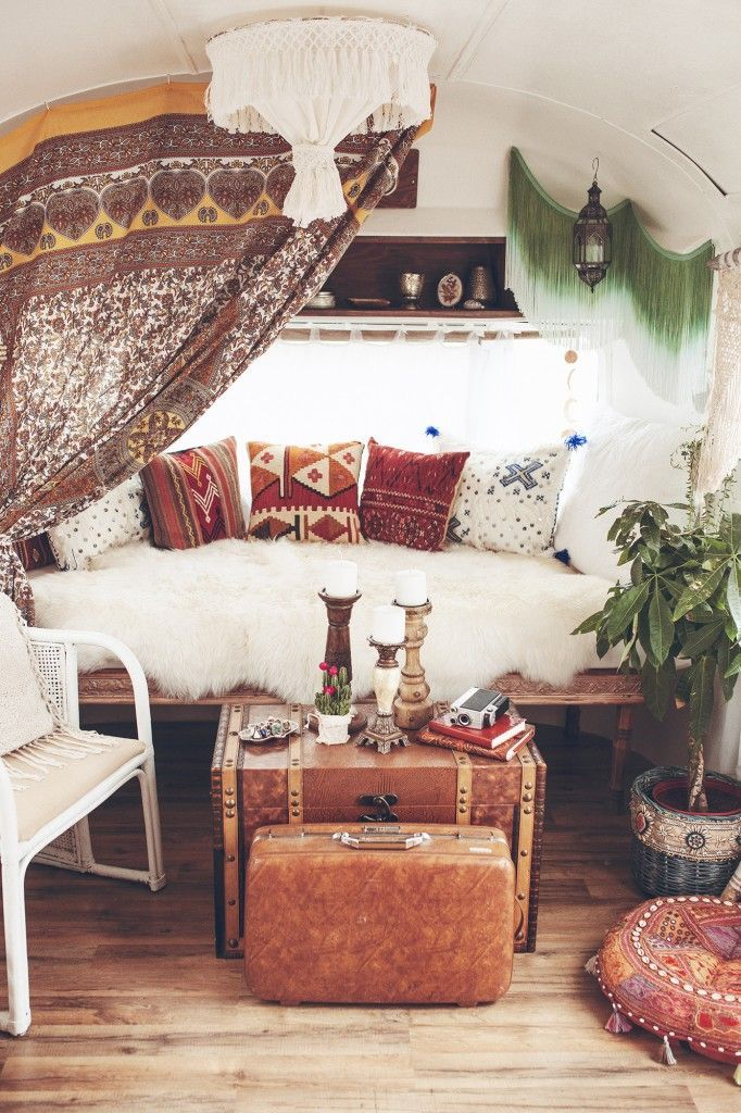 inside our airstream | outdoor decor, boho chic and living spaces