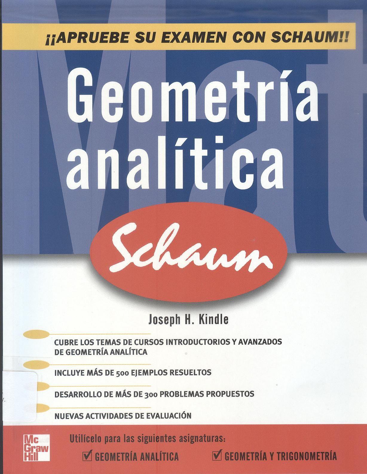 Kindle joseph h geometr a anal tica plana y del espacio 3 ejemplares