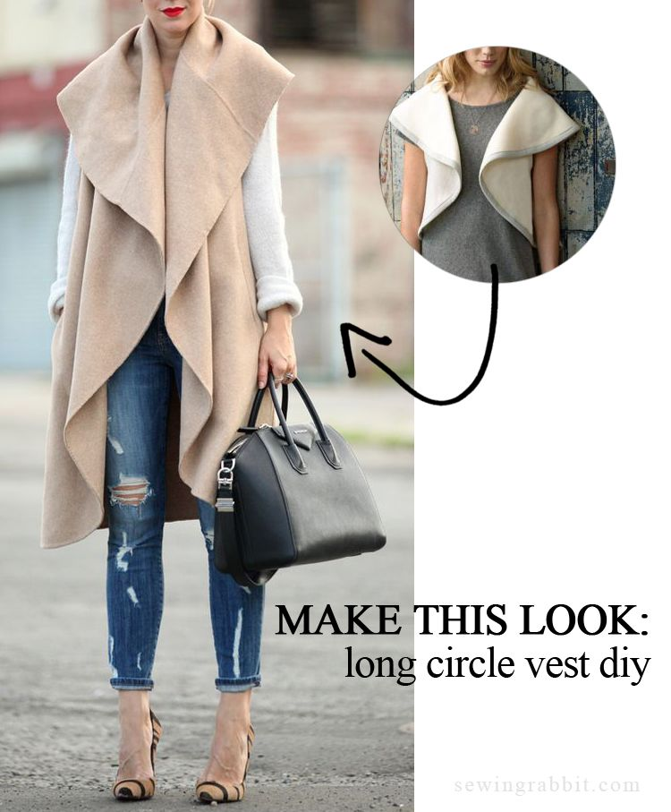 Make this Look: Long Circle Vest | Sew Featured | Pinterest | Sewing ...