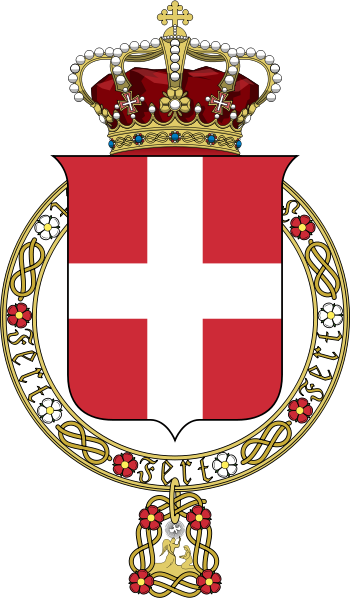 Lesser Coat Of Arms Of The Kingdom Of Italy House Of Savoy Coat Of Arms Kingdom Of Italy Heraldry