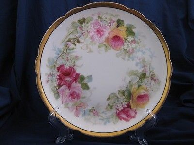 Limoges Coronet M de Mavaleix Cabinet Plate What a beautiful cabinet ...