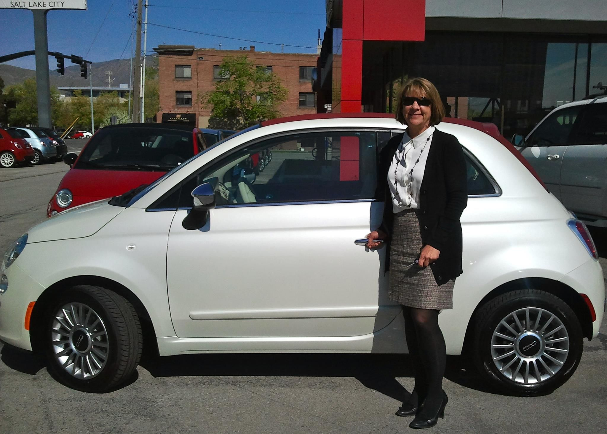 Congratulations To Pam On Her New Fiat 500 Convertible Lounge In