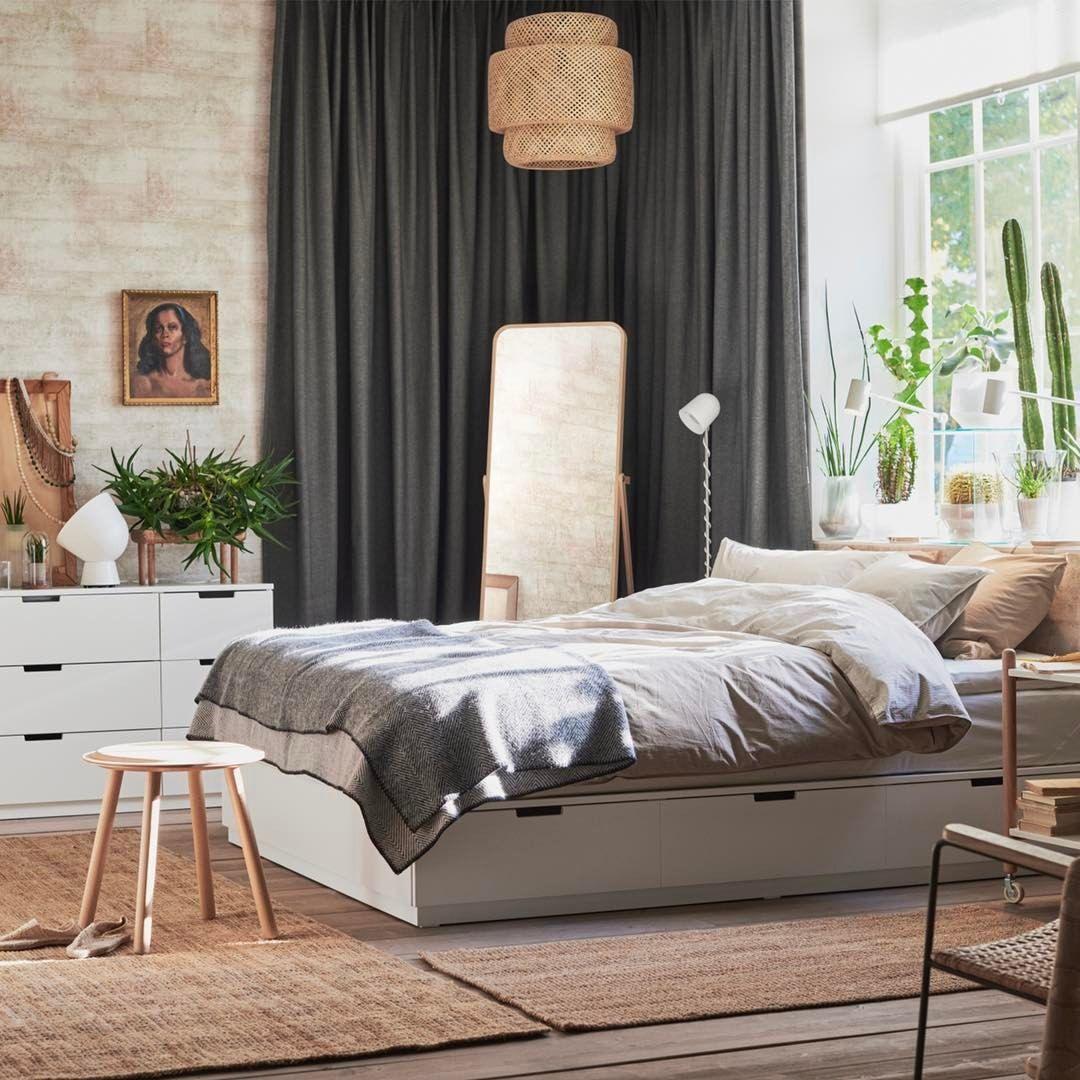 Nordli Bed Ikea Bedroom Sovrumsm 246 Bler Hem Sovrum Sovrum