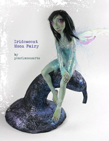 Iridescent Moon Fairy by www.pearlmoonarts.com