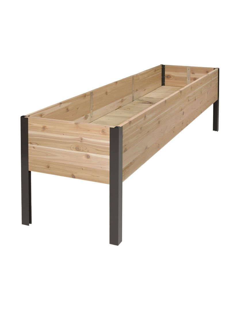 2u0027 X 8u0027 Elevated Cedar Planter Box