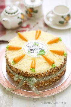 Cheezy Crunchy Carrot Cake Masam Manis Makanan Resep Kue Makanan Minuman