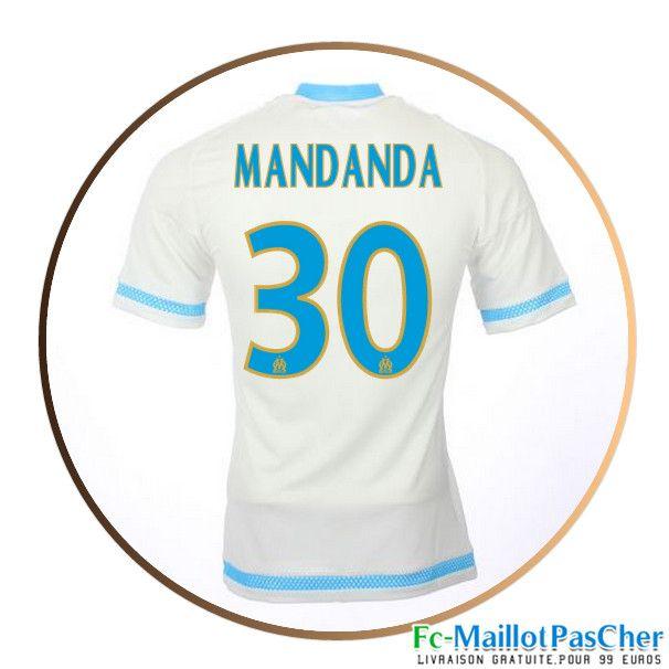 maillot de football olympique de marseille om blanc mandanda 30 domicile 15 2016 2017
