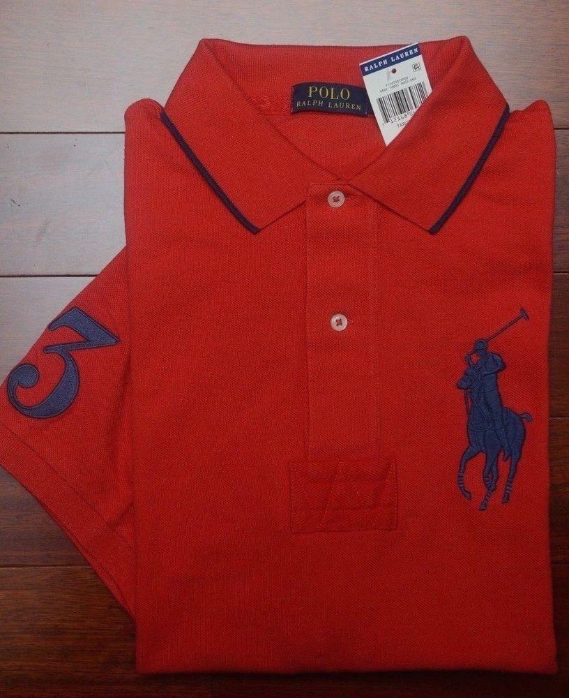 a69e71a535552f Polo Ralph Lauren Mens Big Pony Target Red Cotton Polo Shirt Big  fashion   clothing