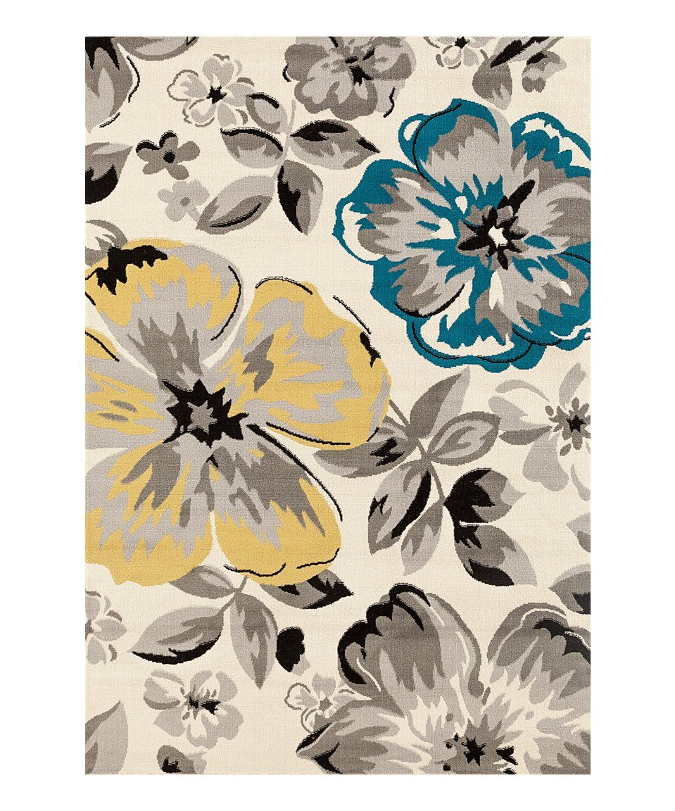 Take a look at this cream yellow flowers rug today all about take a look at this cream yellow flowers rug today mightylinksfo