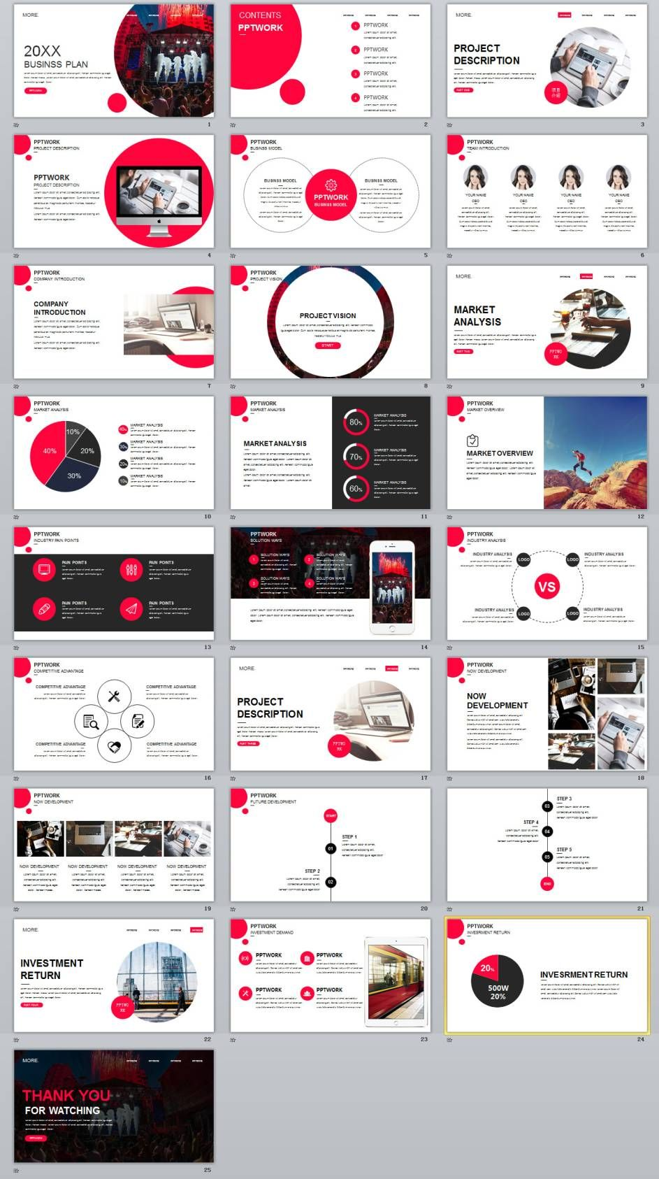 25 round creative business powerpoint template magazine template