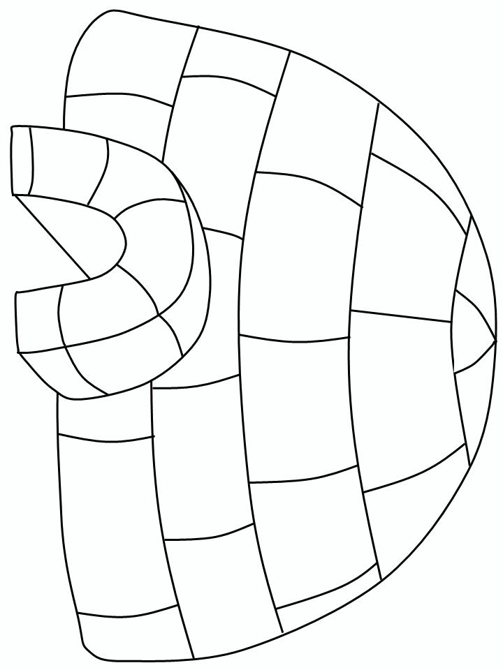 Igloo coloring page | Okul öncesi | Pinterest | Polo norte, Polo y ...