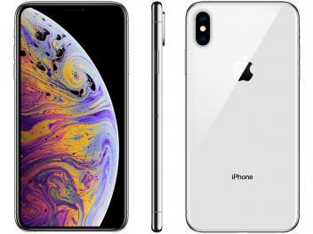 Iphone Xs Max Apple 64gb Prata 4g Tela 6 5 Retina Camera Dupla 12mp Selfie 7mp Ios 12 Magazine Marciofertas Apple Iphone Iphone Tela Do Iphone