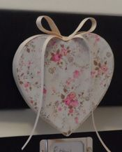 Shabby Chic Decopatch Handmade Heart. Made from a paper mache heart with magnet at the back of it. http://pinkaboogifts.blogspot.co.uk/