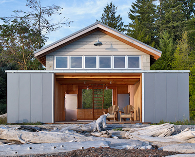 Sliding Barn Doors Can Bring The Inside Outside In Nice Weather Lakefront Living House Boat Exterior Sliding Barn Doors
