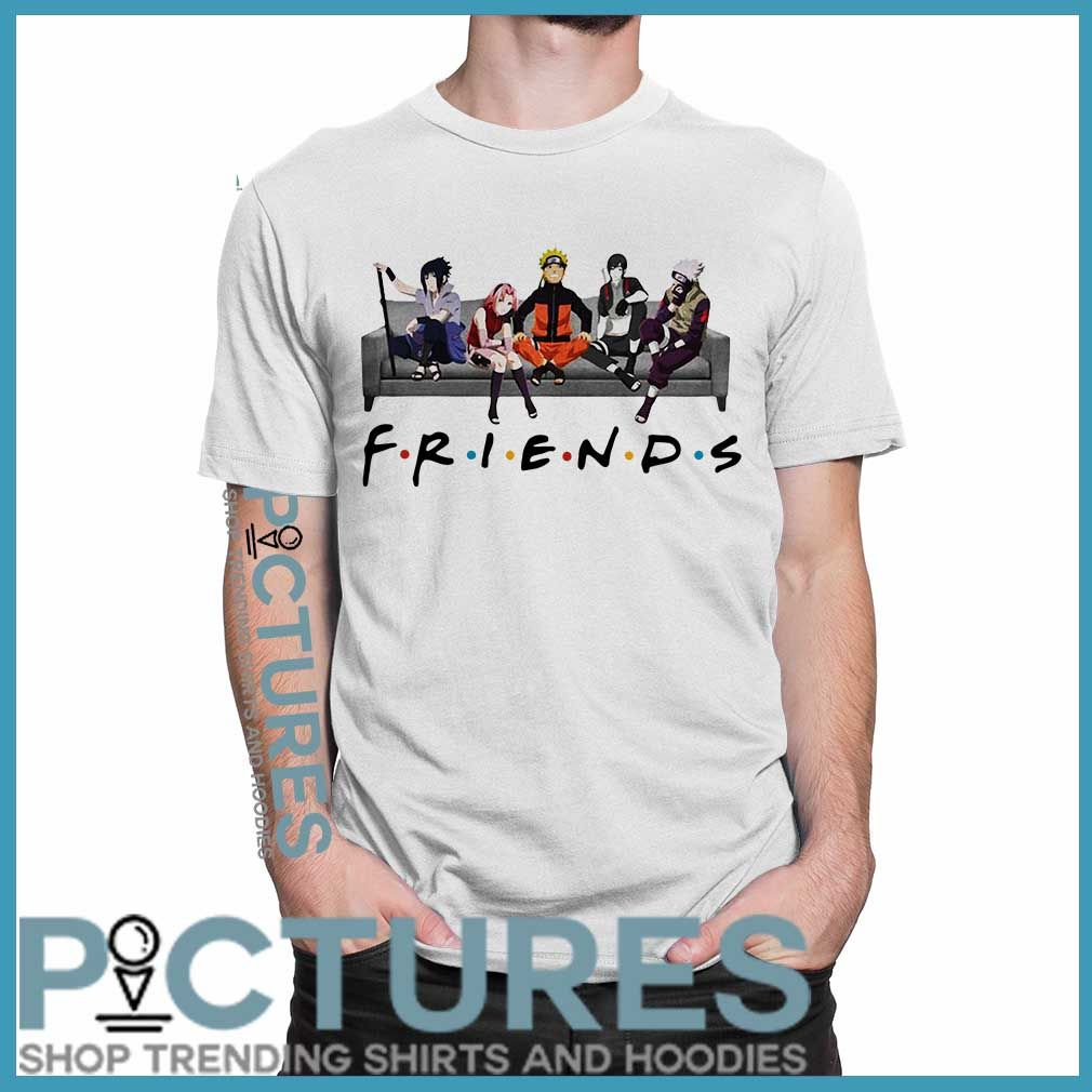 Official Naruto Anime Friends Shirt V Neck T Shirt Ladies Tee