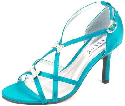 Teal Satin Sparkly Sandals For A Special Occasion Shop Here Our Full Range Of Wedding Bridal Evening Bridesmaid Prom And Shoes With