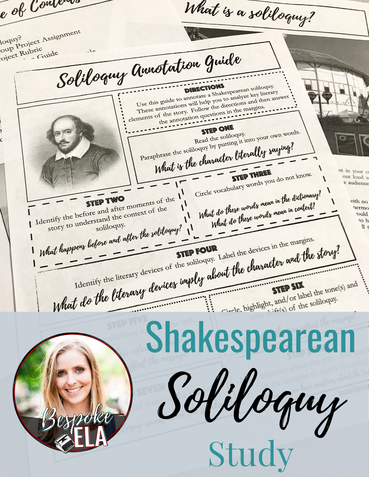 Shakespearean Soliloquy Study For Any Play High School English Lesson Close Reading Shakespeare Plans How To Paraphrase