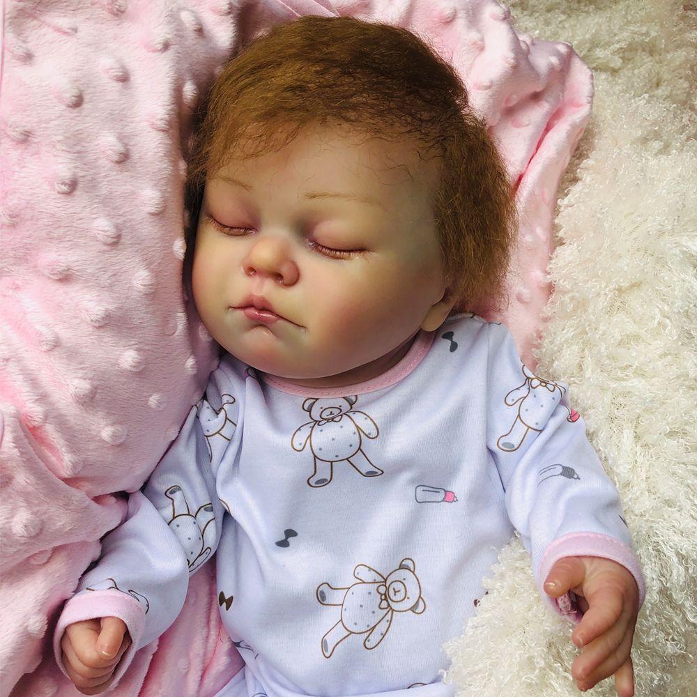 Full Body Silicone Newborn Reborn Baby Boy Doll 18/'/' Lifelike Infant Blue Eyes
