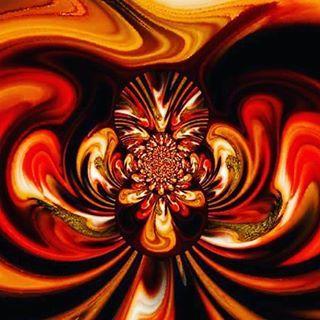 "arte digital fractal ""orange"" by rosy papatella"