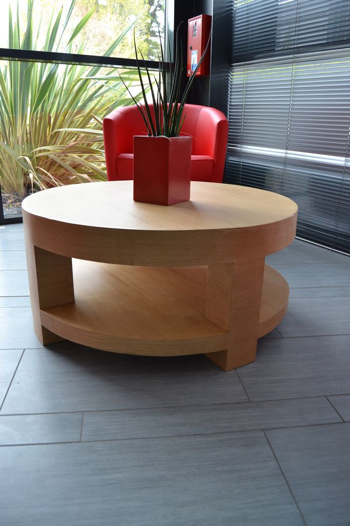 Table basse en carton plaqué bois verni must try Pinterest