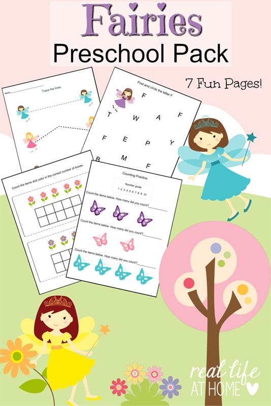 Fairy Printables For Preschoolers Free Printable Packet