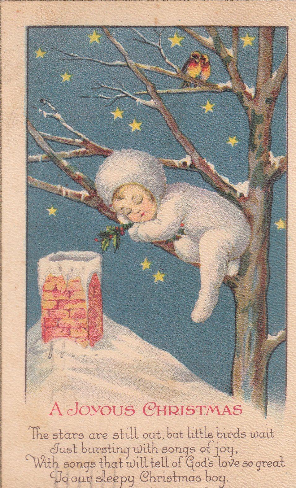 Antique Vintage Post Card Christmas Printable Picture Decor Vintage Christmas Cards Christmas Postcard Christmas Cards